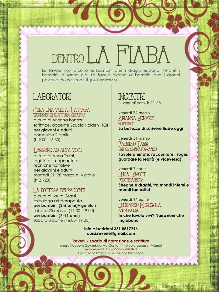 abbastanza Dentro La Fiaba - da martedì 21 marzo ⋆ Kaboom YR02