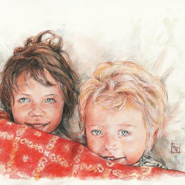 Sorelline_acquerello-matite_35x50