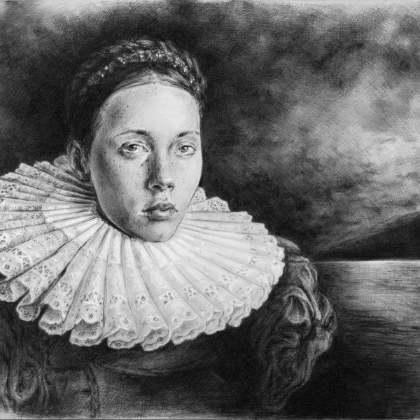 ritratto-giovane-donna_penna_sfera-matita-gessosa_21x29