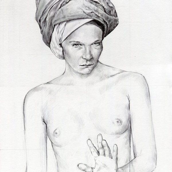 Donna con turbante_46x33