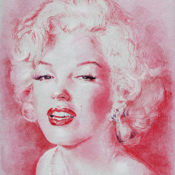 Silver and red Marilyn-_21x29
