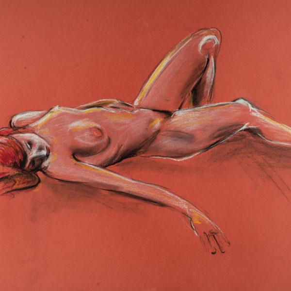 donna rossa_crete-colorate_50x70